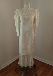 Scott McClintock for Gunne Sax lace brocade dress